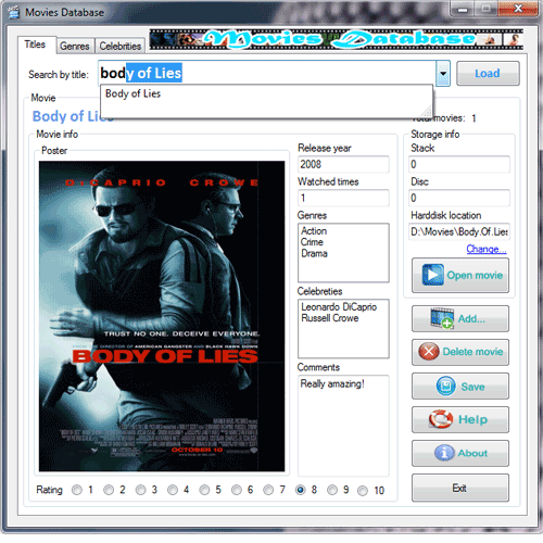 Movies Database 2.0.1 screenshot